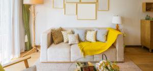 interior of living room in villa